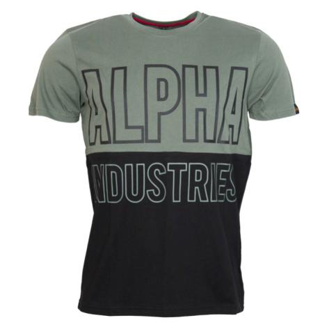 Alpha Industries Tričko Block T zelená vintage