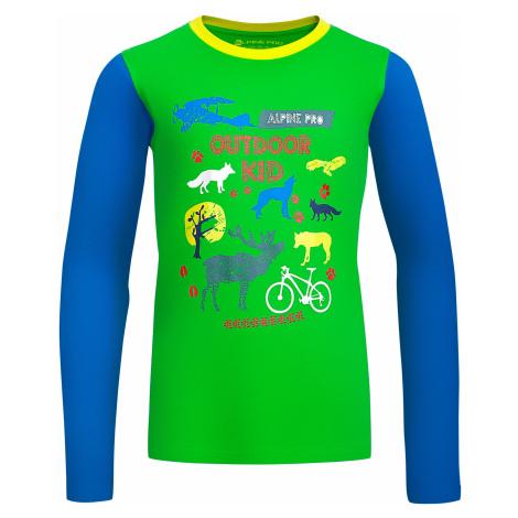 Dětské triko Alpine Pro TOWERO - zelená