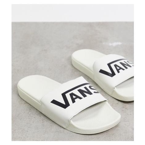 Vans Slide-On sliders in cream-White
