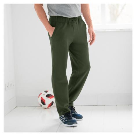 Blancheporte Meltonové kalhoty, rovný spodní lem khaki