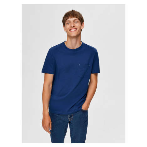 Selected Homme modré pánské tričko Jared
