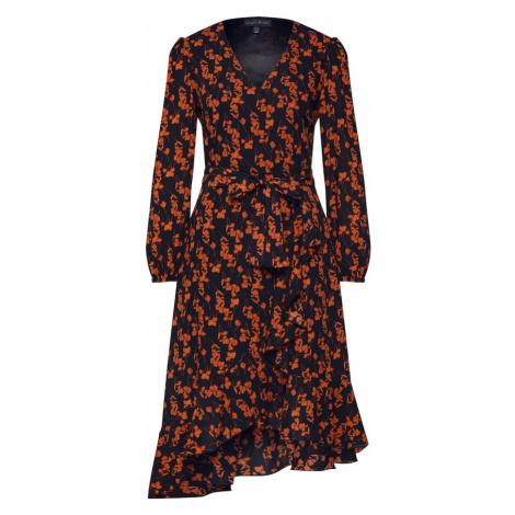 Mela London Šaty 'RUFFLE' oranžová / černá