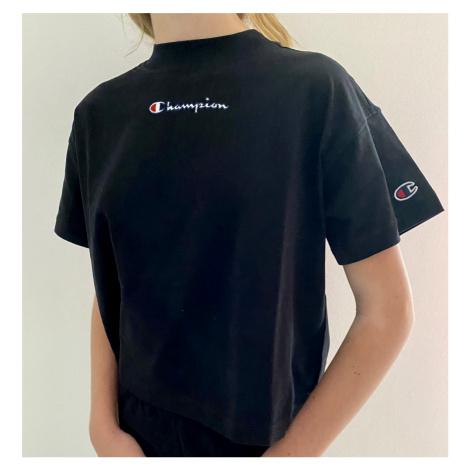 Dívčí triko Champion 403940 | černá