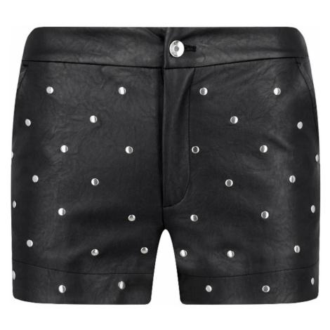 Černé kožené šortky - LIU JO