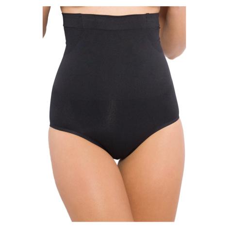 Stahovací bezešvé kalhotky vysoký pas - silikonový pásek, lepené lemy Hanna Style