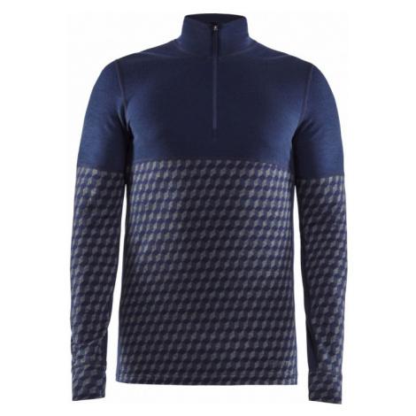Pánské tričko CRAFT Merino 240 Zip LS tmavě modrá