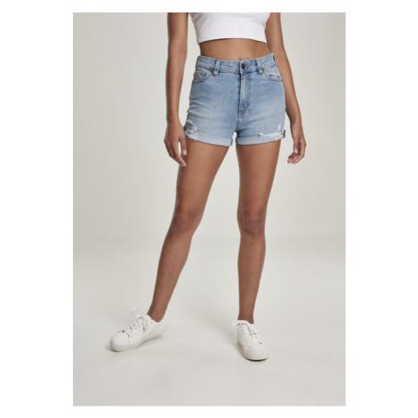 Urban Classics Ladies 5 Pocket Shorts lt. authenticblue washed