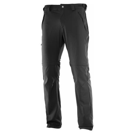Kalhoty Salomon WAYFARER STRAIGHT ZIP PANT M - černá