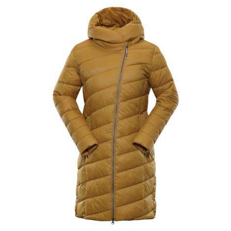 ALPINE PRO OMEGA 3 Dámský zimní kabát LCTP102115 mustard