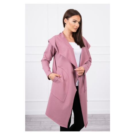 Cape with a loose hood dark pink Kesi