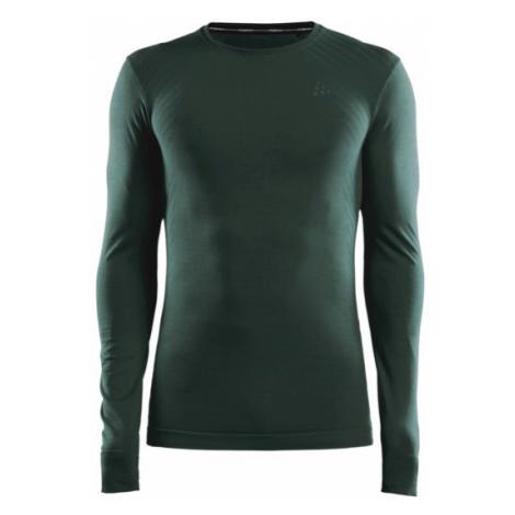 Pánské tričko CRAFT Fuseknit Comfort LS tmavě zelená