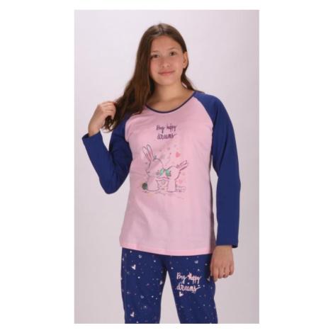Dětské pyžamo dlouhé vienetta Secret Malí králíci | banánová
