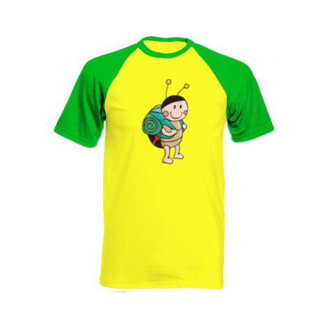 Pánské tričko Baseball Beruška cestovatelka
