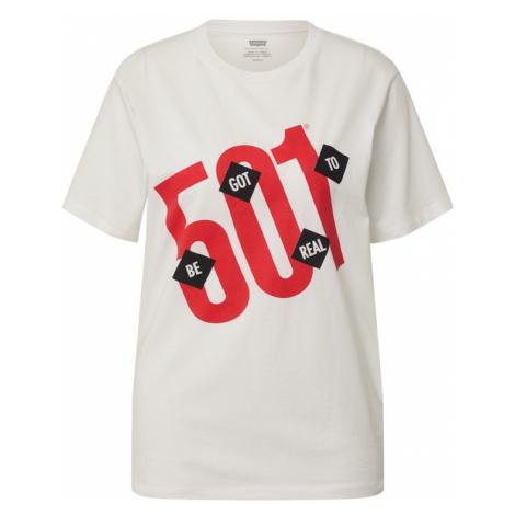 LEVI'S Tričko 'HOUSEMARK' bílá / červená / černá Levi´s