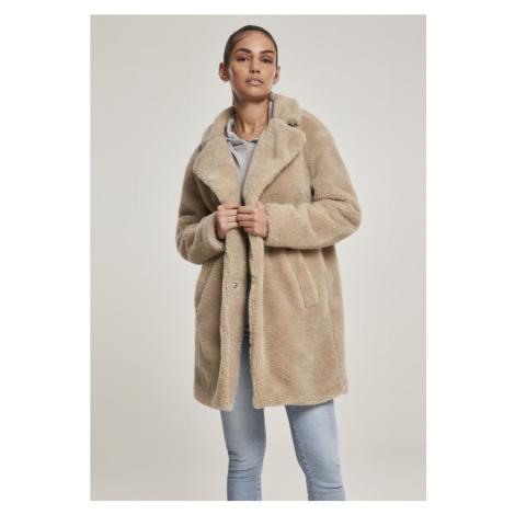Ladies Oversized Sherpa Coat - sand Urban Classics