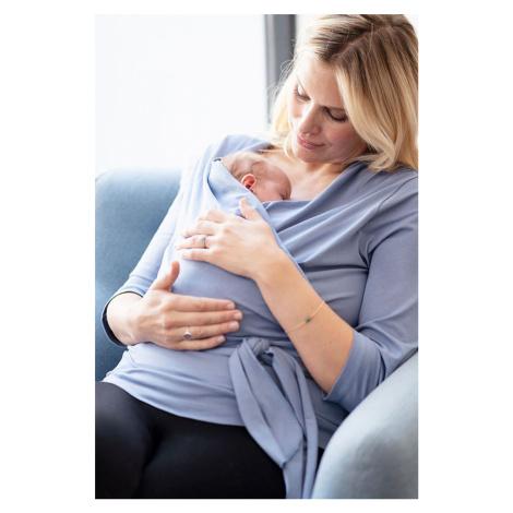 Světle modrý zavinovací top pro maminky Skin to Skin Winifrid 3/4