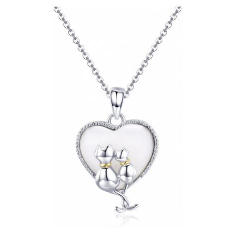 Linda's Jewelry Stříbrný náhrdelník Pár Zamilovaných Koček Ag 925/1000 INH109