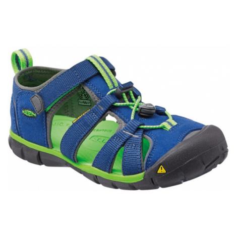 KEEN SEACAMP II CNX JR Dětské sandály KEN1201103307 true blue/jasmine green