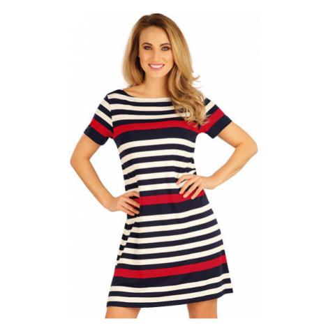 Dámské šaty s krátkým rukávem Litex 5A042   pruhy