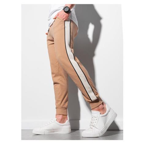 Ombre Clothing Světle-hnědé pohodlné tepláky P947