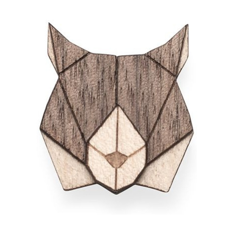 Dřevěná brož Lynx Brooch BeWooden