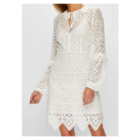 Bílé krajkové šaty - PINKO