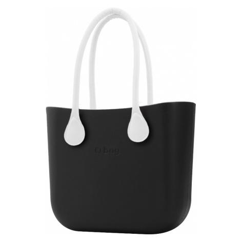 O bag kabelka Nero s bílými dlouhými koženkovými držadly