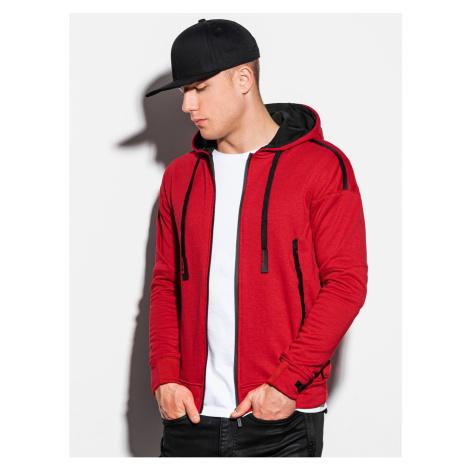 Ombre Clothing Men's zip-up sweatshirt B1076