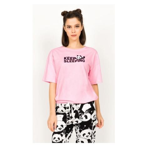 Dámské pyžamo kapri Keep sleeping, XL, růžová Vienetta Secret