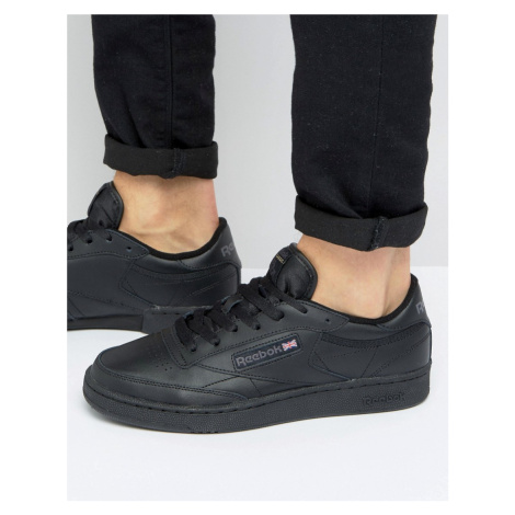 Reebok Club C Leather Trainers In Black AR0454 - Black