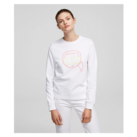 Mikina Karl Lagerfeld Ikonik Karl Face Sweatshirt - Bílá