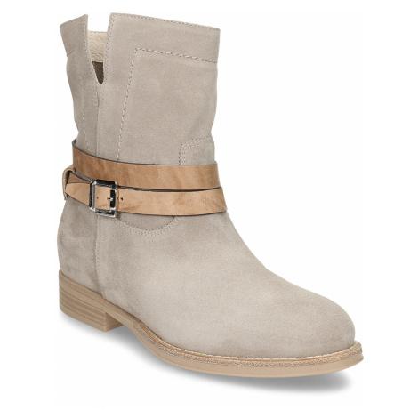 Šedá dámská kožená kotníková obuv Nero Giardini