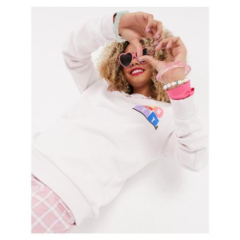 ASOS DESIGN x glaad sweatshirt with unity print in pink-Purple