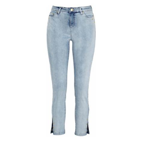 Strečové džíny s kroužky zlaté barvy Cellbes