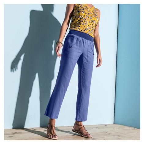 Blancheporte 7/8 kalhoty len/bavlna levandulová