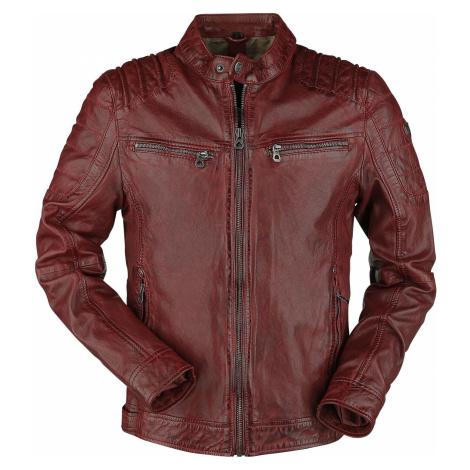 Gipsy Camren Slim Fit NSLVW kožená bunda červená