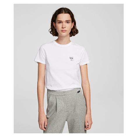 Tričko Karl Lagerfeld Ikonik Mini Choupette Rs Tee - Bílá
