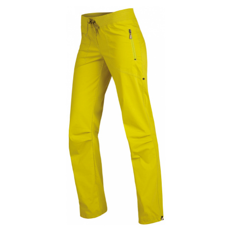 LITEX Kalhoty dámské dlouhé bokové. 99570104 žlutozelená