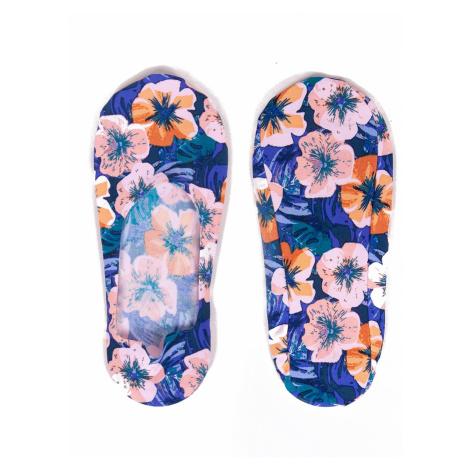 Dámské ponožky baleríny YO! SKB-41 Laserové květy nachový