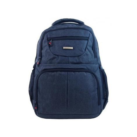 New Berry Elegantní polstrovaný školní batoh L18105 modrý Modrá