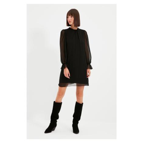 Trendyol Black Standing Collar Dress