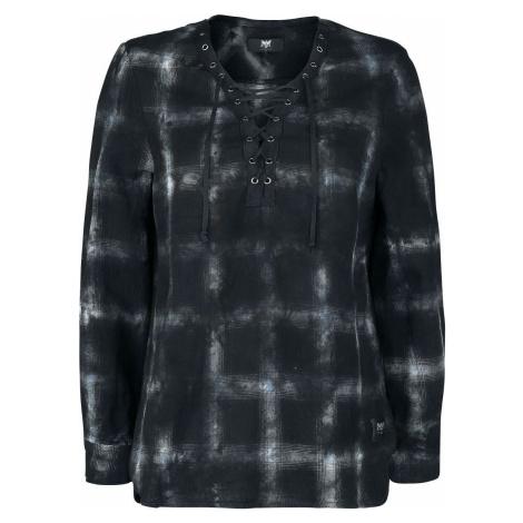 Black Premium by EMP Kostkovaná košile se šněrováním Dámská halenka cerná/bílá
