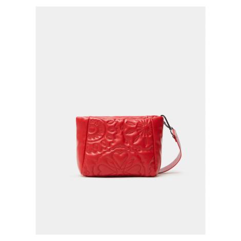 Červená dámská prošívaná crossbody kabelka Desigual Big Big Amber