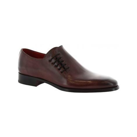 Leonardo Shoes 8732E19 TOM VITELLO DELAVE BORDEAUX Červená