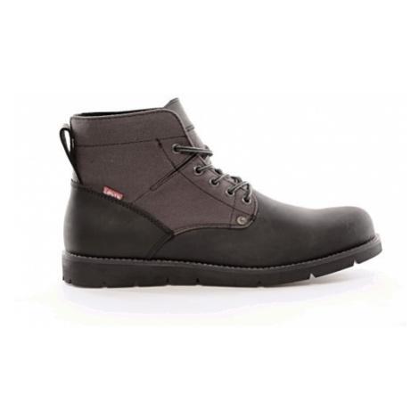 Kožené kotníkové boty Levi´s® Jax pánské černé