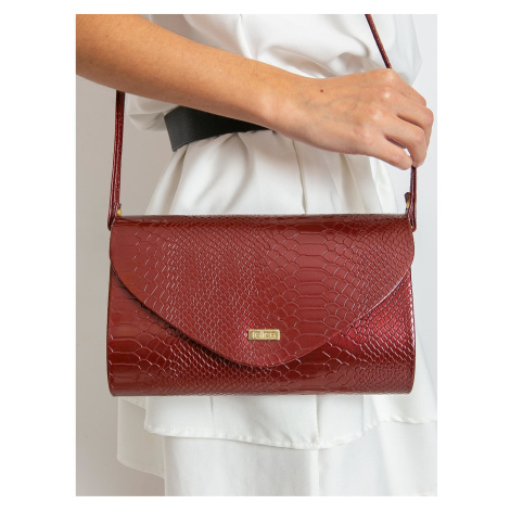 Burgundy clutch bag with an animal pattern Fashionhunters