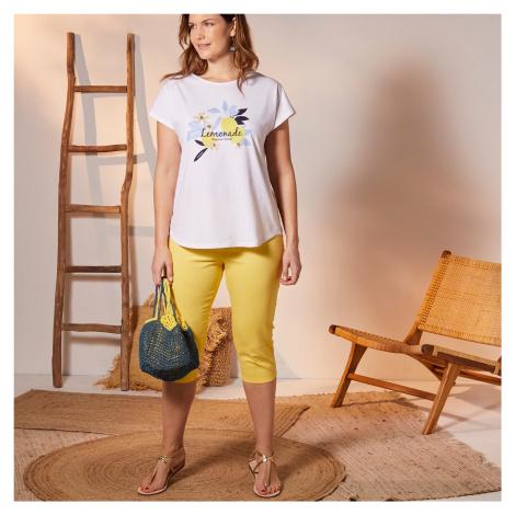 Blancheporte Barevné korzárské kalhoty s pružným pasem žlutá