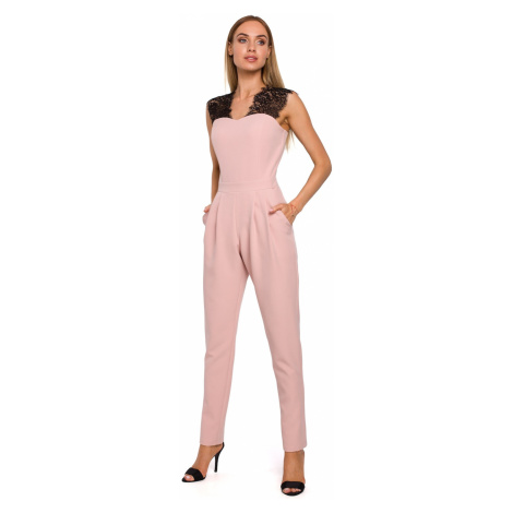 Made Of Emotion Woman's Jumpsuit M484 Powder