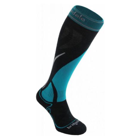 Dámské ponožky Bridgedale Ski Midweight gunmetal/turquoise/004