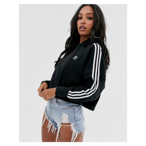 Adidas Originals adicolor cropped hoodie in black
